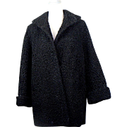 Vintage Black Persian Lamb Stroller Coat