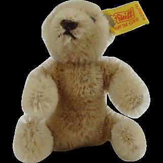 Vintage Steiff Mohair mini Bear with ear tag 0201/11
