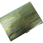 Vintage Art Deco 800 Silver and Gold Cigarette Case
