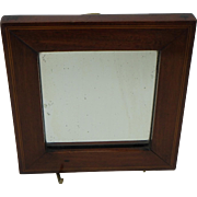 Antique Mahogany Mirror with String Inlay