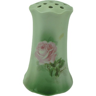 Antique Porcelain Hat Pin Holder with Roses, Germany
