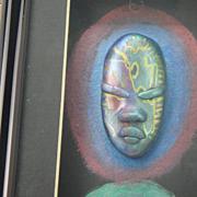 Vintage African Tribal Masks Artist Concept