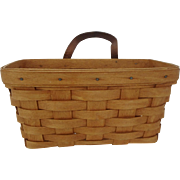Vintage Longaberger Medium Wall Hanging Basket