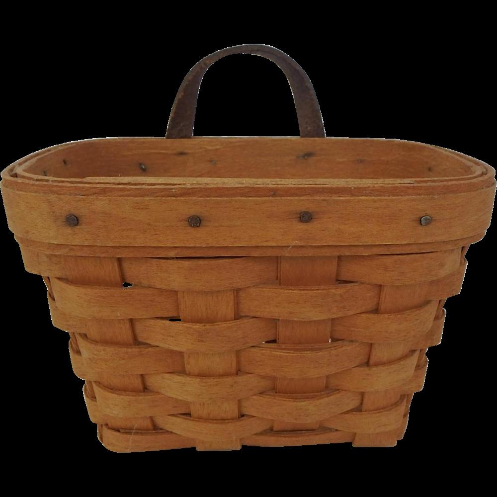 vintage longaberger small wall hanging basket from suzandentryantiques on ruby lane. Black Bedroom Furniture Sets. Home Design Ideas