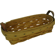 Vintage Longaberger Basket Small with Handles
