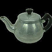 Festival of Britain Souvenir Aluminum Tea Pot, 1951