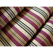 Vintage Kimono Obi Sash Pink Cream Gold and Black Stripes Japan