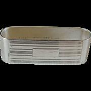 Art Deco Gorham Sterling Silver Napkin Ring Rectangular no monogram
