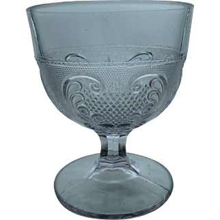 EAPG Antique Buttermilk, Goblet or Open Sugar