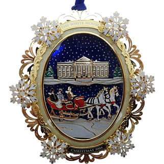 White House Historical Association Christmas Ornament 2004, President Hayes, MIB