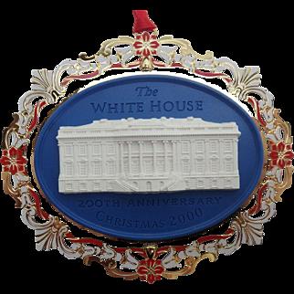 White House Historical Association Christmas Ornament 2000, 200th White House Anniversary, MIB