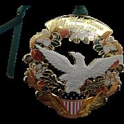 White House Historical Society Christmas Ornament 1998, Buchanan, MIB
