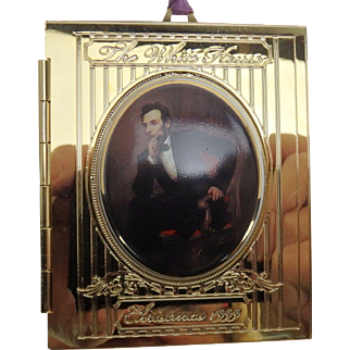 White House Historical Association annual Christmas Ornament, 1999, Lincoln MIB