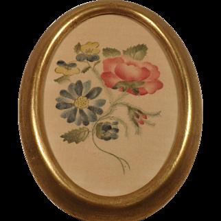 Vintage Theorem Flowers on Velveteen