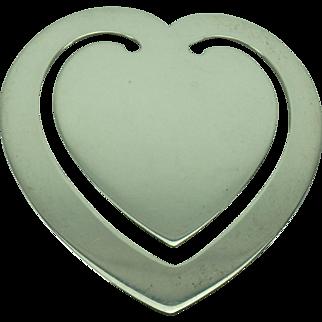 Vintage Sterling Heart Bookmark
