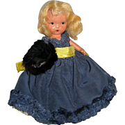 Nancy Ann Storybook Bisque Storybook Doll with Fur Cape and Muff