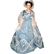 "18"" Porcelain Franklin Mint Heirloom Doll - Olivia de Havilland as Melanie in Gone with the Wind"