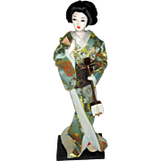 1970's Geisha Doll with Samisen Musical Instrument