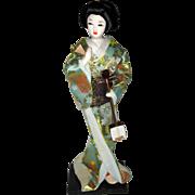 1970's Geisha Doll with Samisen Musical Instrument