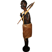 Wooden Hunter or Warrior Figure - Kenya, 1952