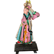 Vintage Chinese or Peking Opera Character Doll Figure