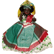 Tiny Souvenir Festival Doll from Martinique 1966