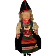 Vintage Celluloid Swedish Gode Ideer Doll in Rattvik, Dalarna Dress - Red Tag Sale Item
