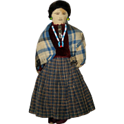 Vintage Hand Made Cloth Navajo Woman Doll -  1938 - Red Tag Sale Item