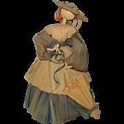 "10"" Artisan Made Corn Husk Doll 1986 - American Folk Art - Original Tags"