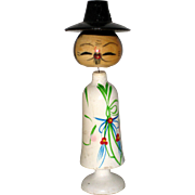 Wooden Korean Bobble Head Doll