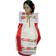 Vintage Doll from Yucatan, Mexico - 1983