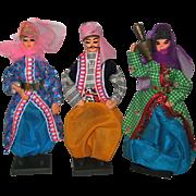 Three Souvenir Dolls From Turkey - 1978