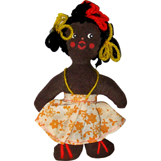 Small Cloth Doll - New Orleans, 1955