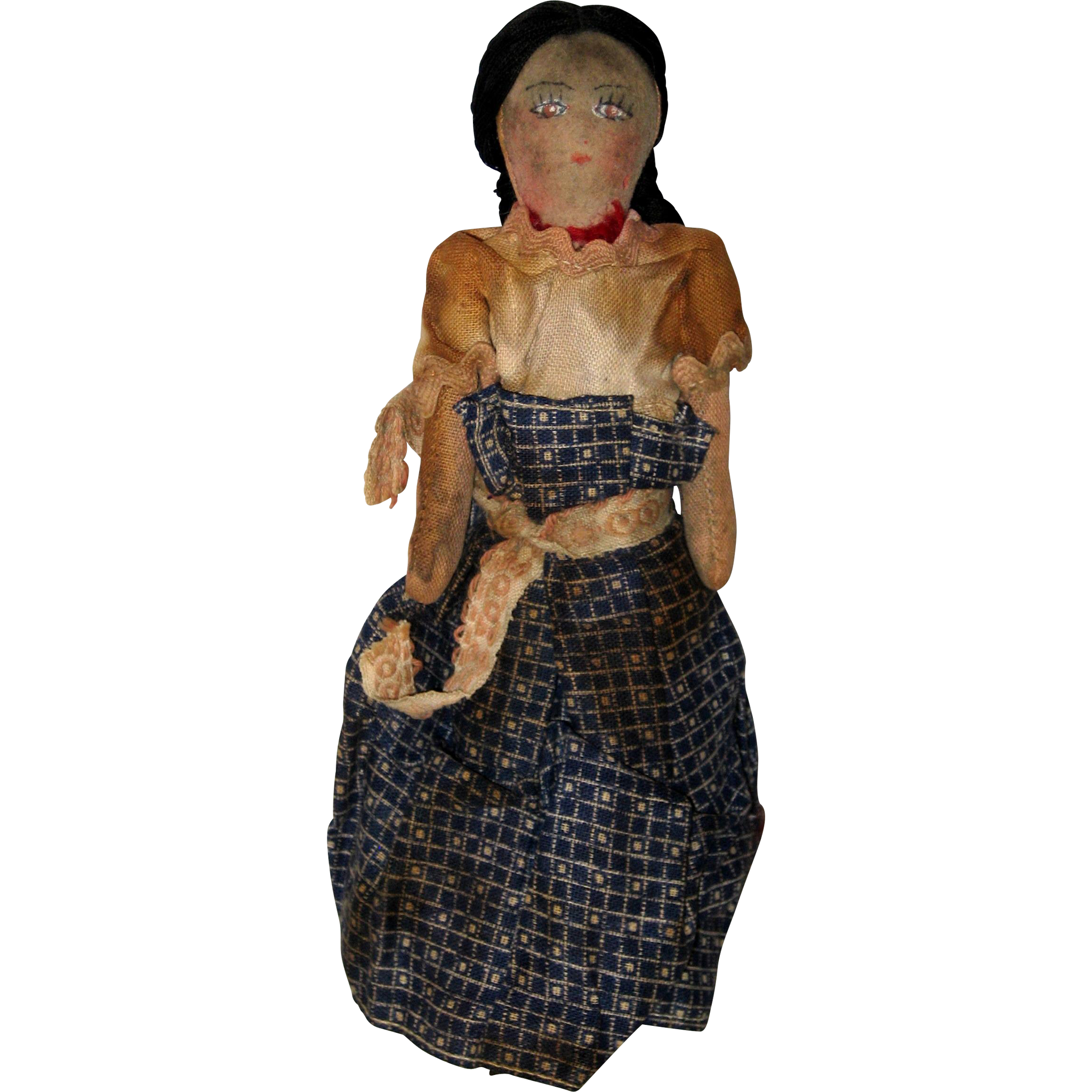 Handmade Cloth Navajo Doll - Late 1930's