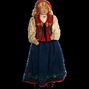 Hilda Ege Norwegian Ethnic Costume Doll - 1940's