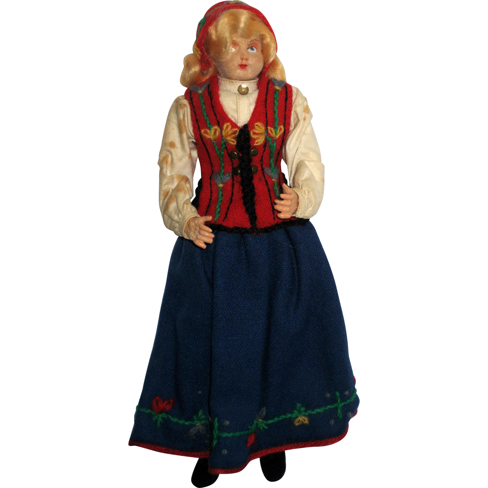 Hilda Ege Norwegian Ethnic Costume Doll - 1940's