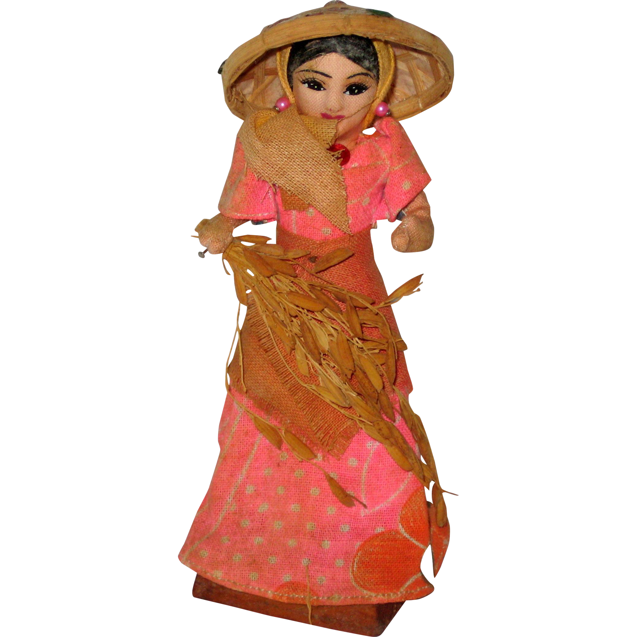 Little Rice Farmer Lady Doll from the Philipines - 1977