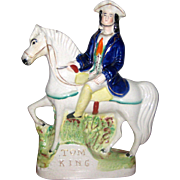 Staffordshire Figurine of Highwayman Tom King on Horseback - Mid 1800's