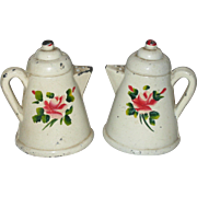 Cast Iron Coffee Pot Salt and Pepper Shakers