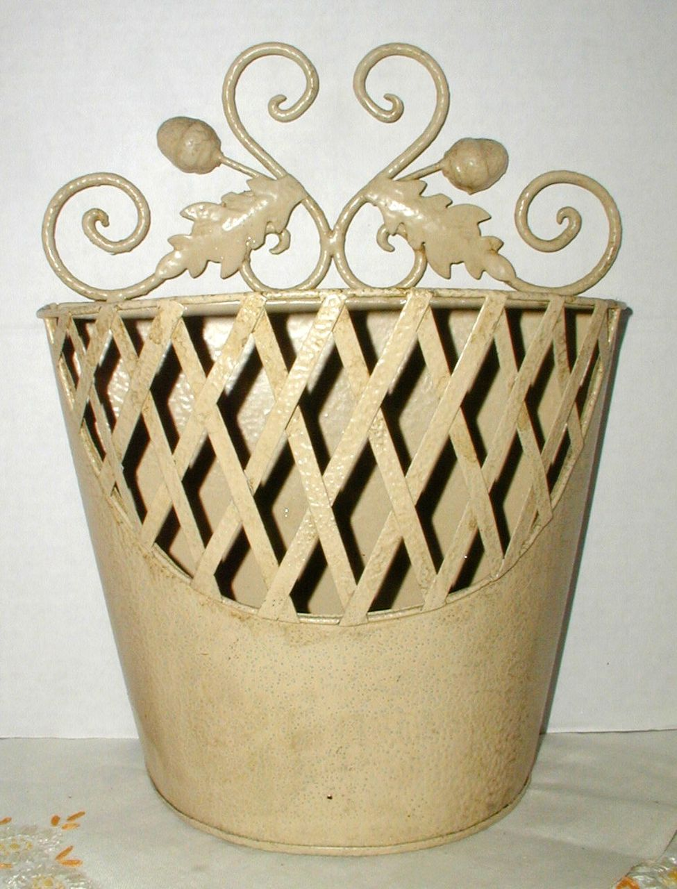 Decorative Metal Planter or Letter Holder