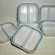 Chinese Blue and White Porcelain Individual Dipping Dishes - For Soy, Ginger, Wasabi, Sauces