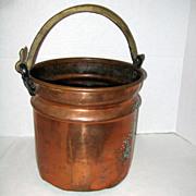 Large Hammered Copper Turkish Ottoman Bucket