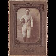 Photograph of Football Player Circa 1890