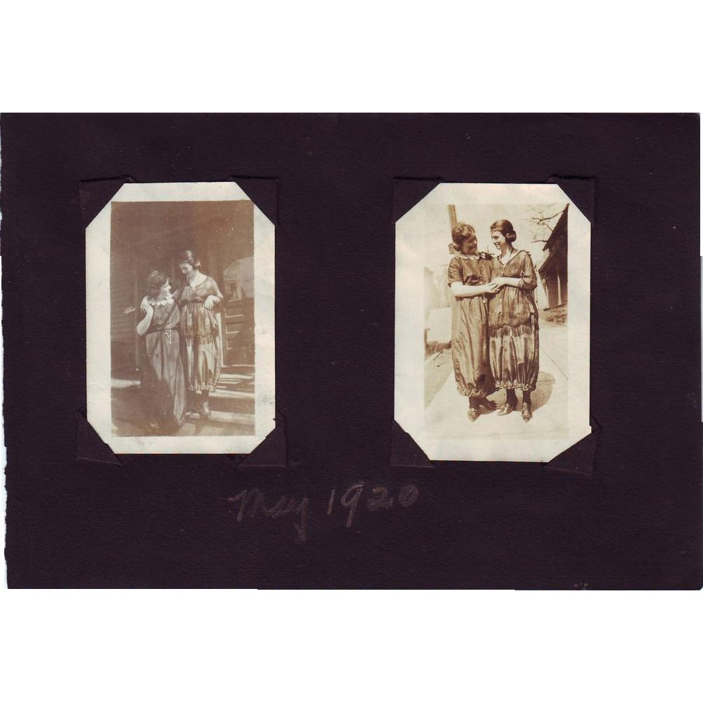 1920's Photos - Best Girl Friends in Fancy Dresses