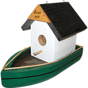 Hand Made Wooden Folk Art Birdhouse - Bird Ark