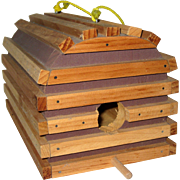 Hand Made Wooden Lobster Trap Bird House
