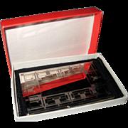 Frank Lloyd Wright Design Silver Plated Business Card Holder in Original Box 1991 - 92