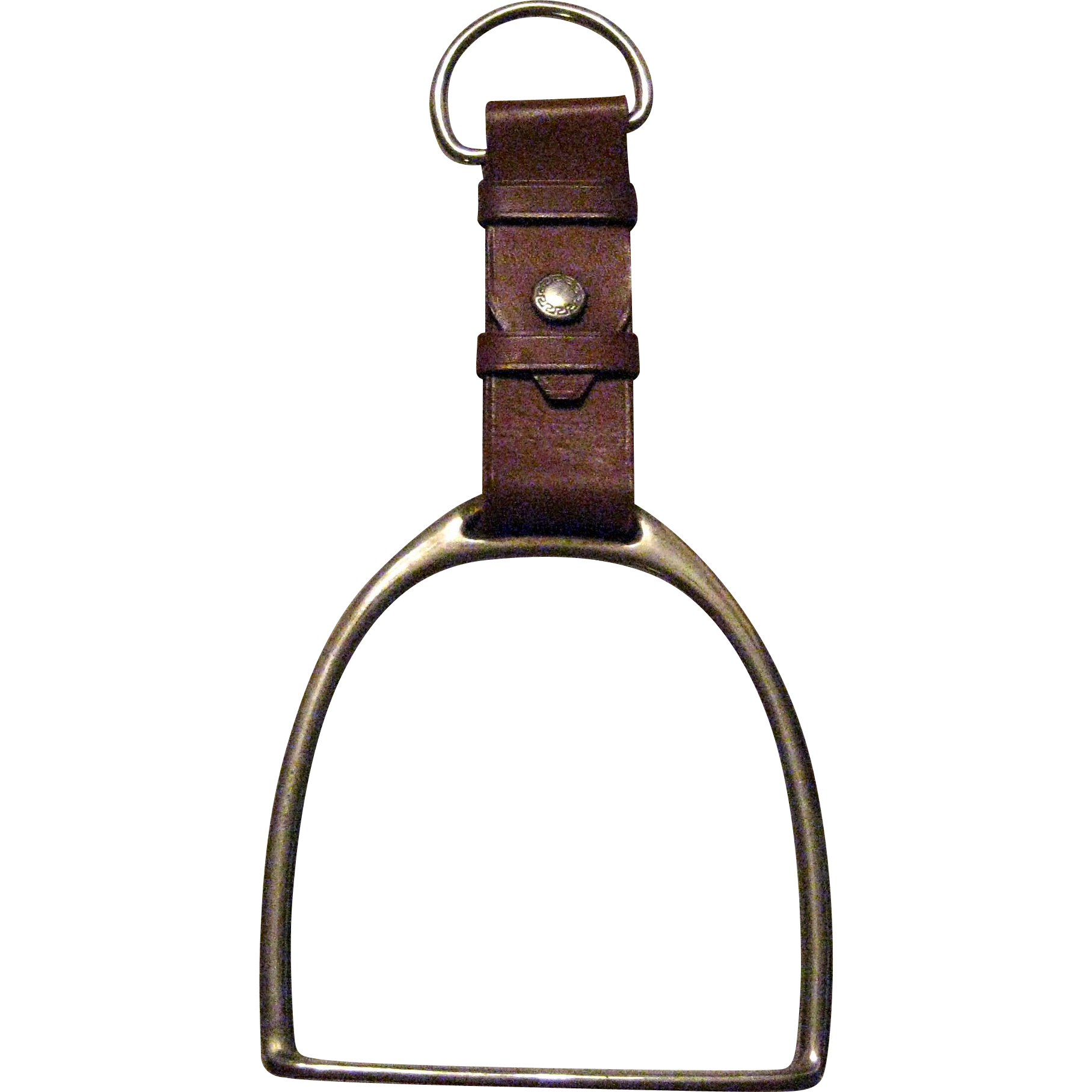 Brass And Leather Decorative Stirrup Hanger From