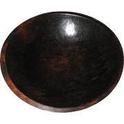 Hand Turned Wooden Dough Bowl - Dark