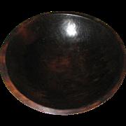 Hand Turned Wooden Dough Bowl - Dark